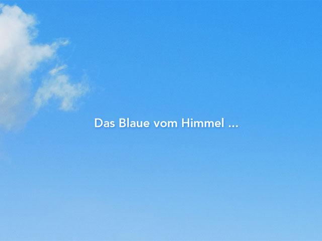 Blaue Farbe Des Himmels